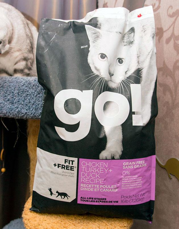 Корм GO! FIT + FREE для кошек и котят сбалансирован и в нем присутствую все необходимые микроэлементы и витамины