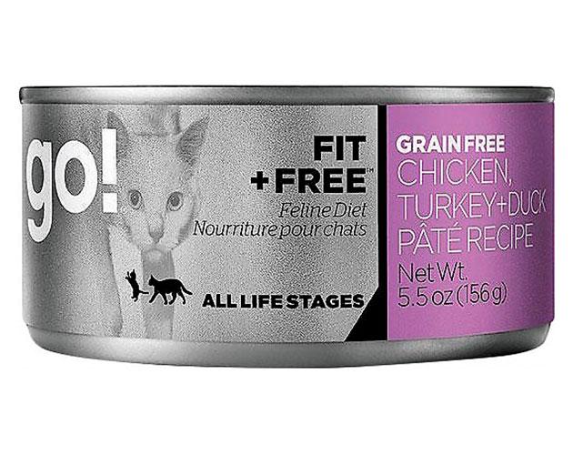 Корм для кошек GO! FIT + FREE предназначен для ежедневного употребления питомцем