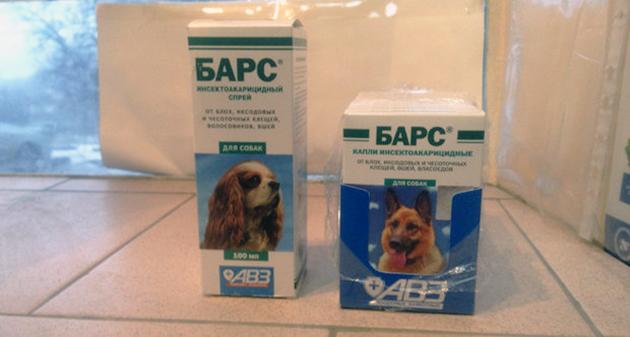 Цена на препарат Барс для собак в районе 200-300 рублей