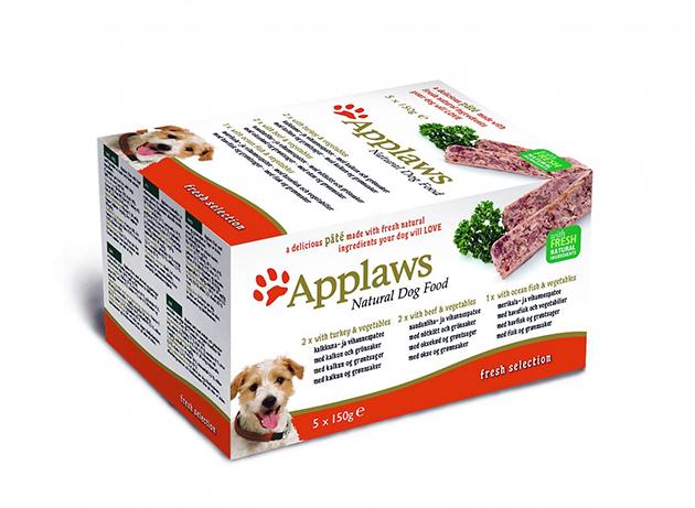 Корма Applaws для собак в плане цены, держаться в среднем ценовом сегменте