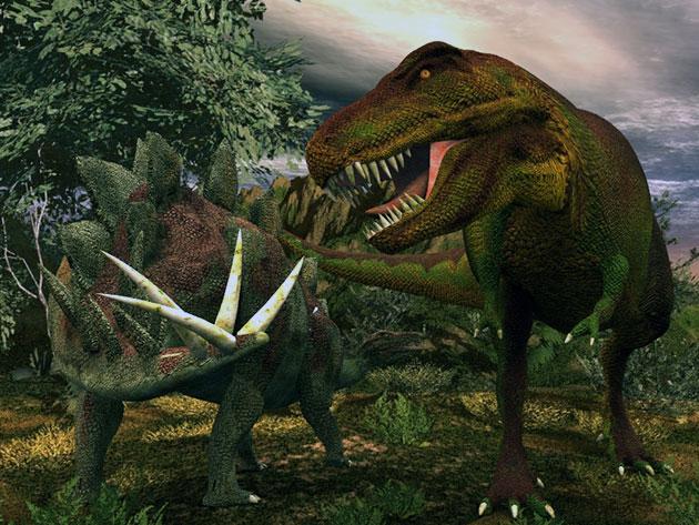 На стегозавров, особенно молодых и ослабленных, охотились такие плотоядные динозавры