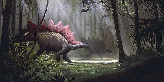 Самый ранний популярный портрет стегозавра появился научно-популярного журнала «Scientific American»