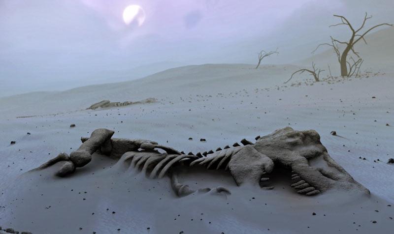 Первый целостный череп тираннозавра извлекли лишь в 1908 году, а его полный скелет смонтировали в 1915 году