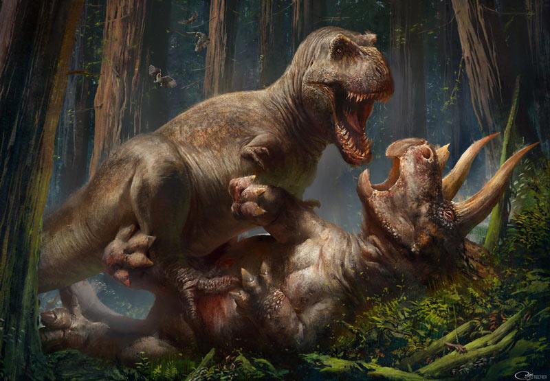 Tyrannosaurus rex был хищником-оппортунистом (охотился и ел падаль)