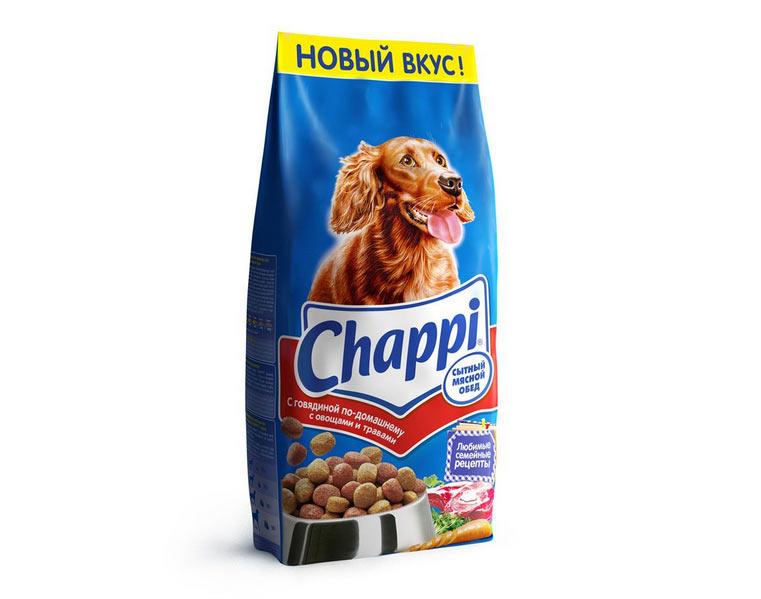 Сухой готовый корм для собак «Чаппи» (Chappi) относится к «эконом-классу»